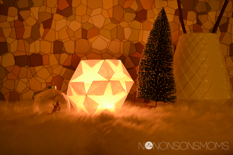 DIY lampion van vijfhoeken