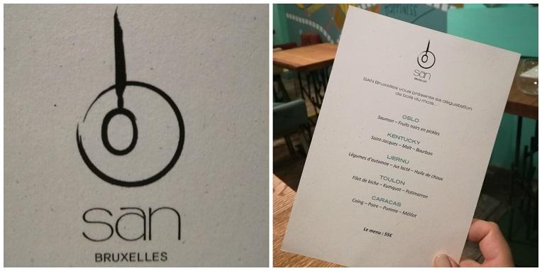 Het logo en de menu - kaart: zie jij een kom en lepel?