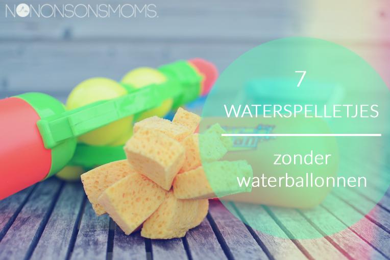 7 waterspelletjes zonder waterballonnen