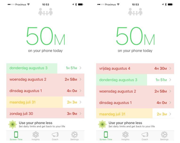 smartphonegebruik verminderen met de Moment app