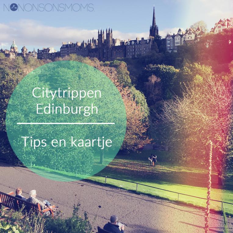 citytrip Edinburgh mijn tips op een kaart gezet