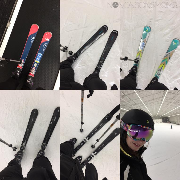 ski's testen decathlon Aspen indoor skipiste