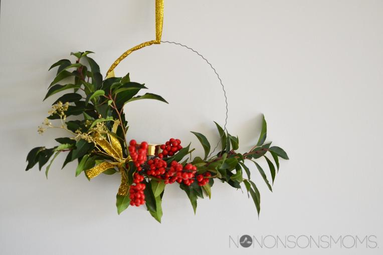 DIY adventskrans kerstkrans