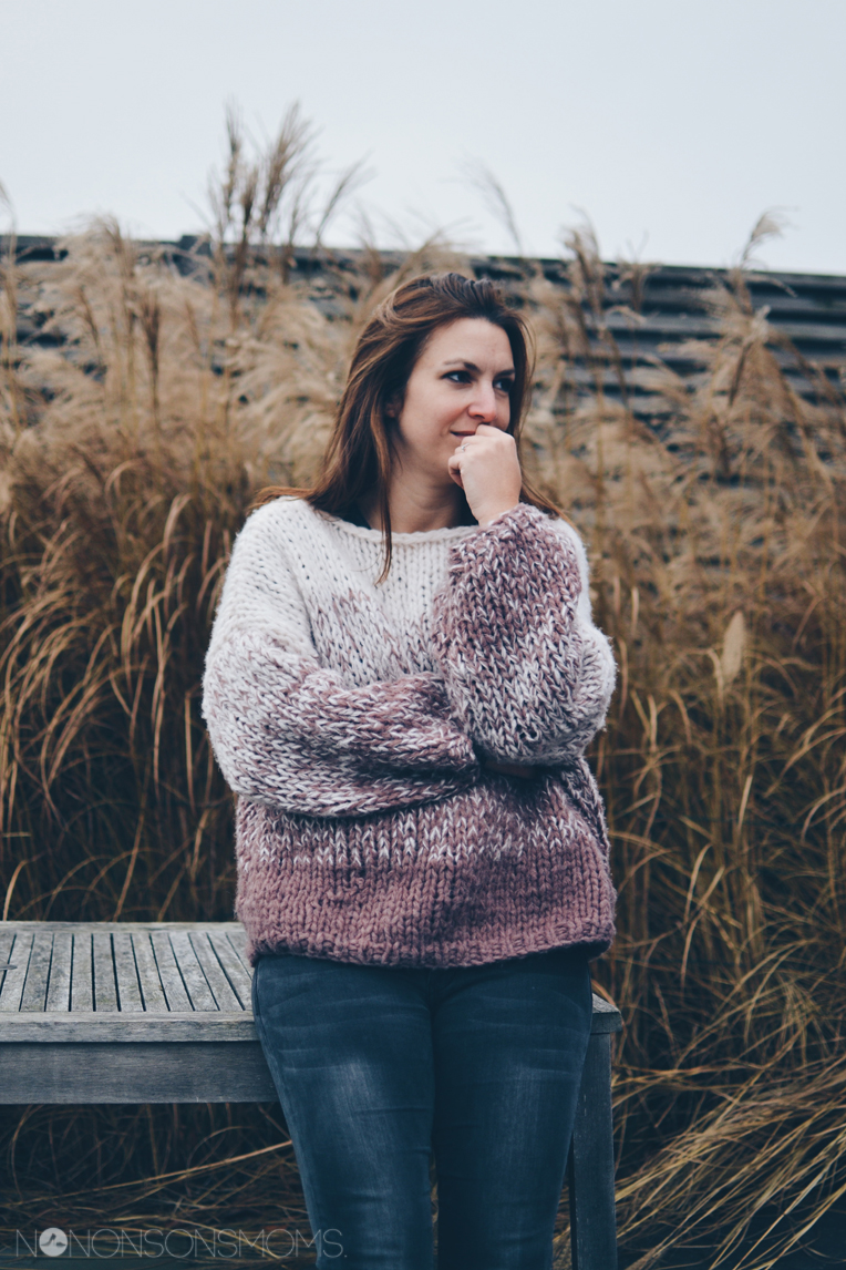 knuffeltrui - dégradé sweater veritas met Cosy wol