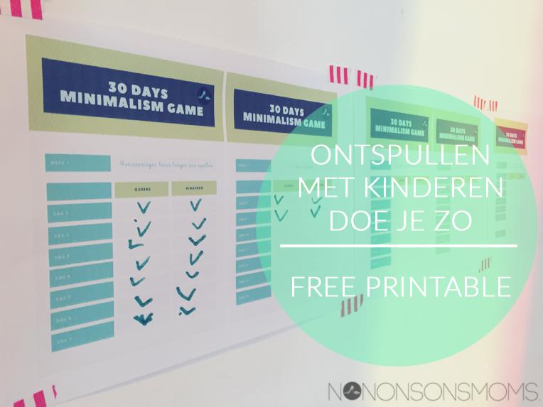 mimimalism game, nnsmminsgame, ontspullen met kinderen, free printable