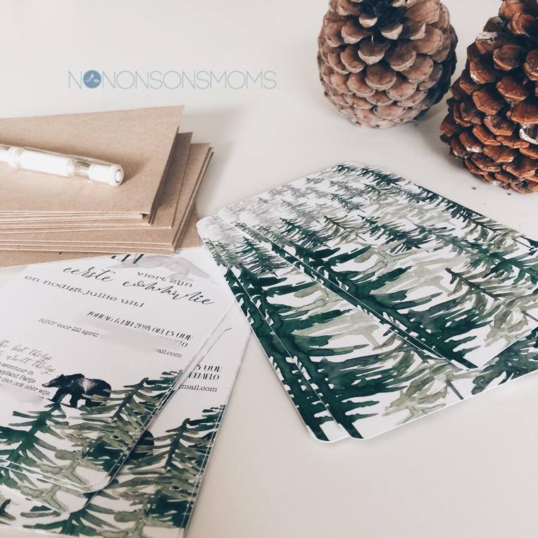 uitnodiging eerste communie - woodland - smartphoto