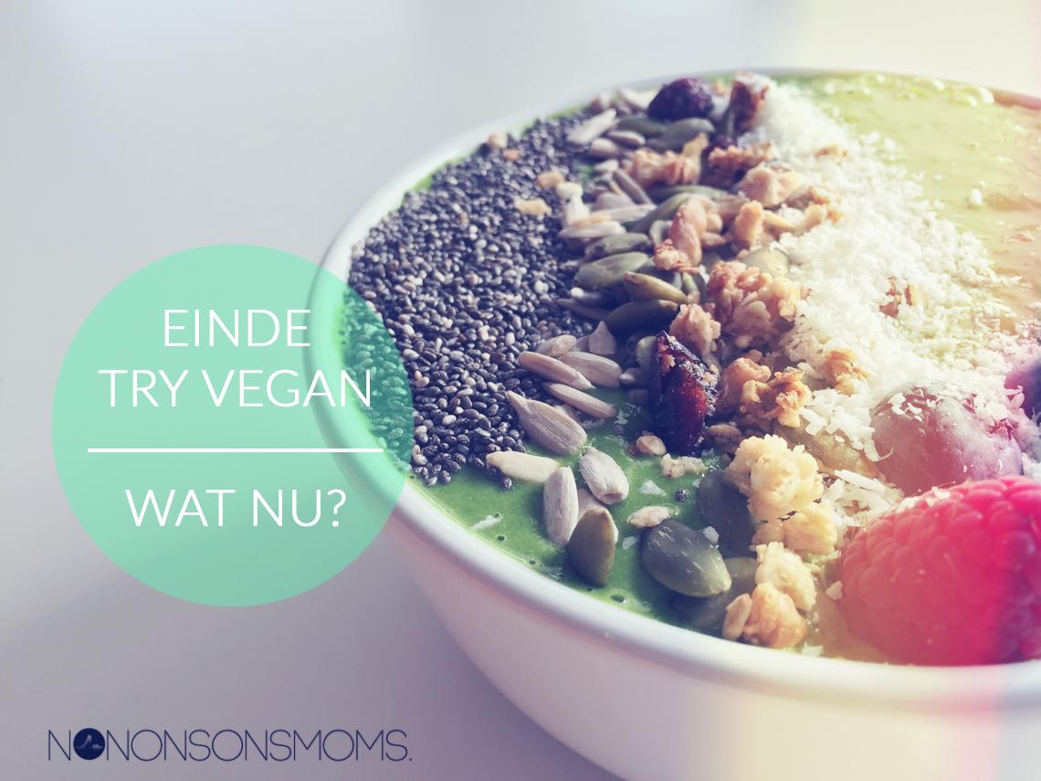 Einde try vegan - Wat nu?