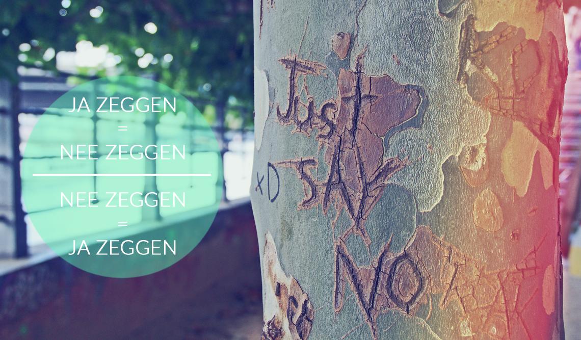 Ja zeggen is nee zeggen en omgkeerd - grenzen stellen en bewaken