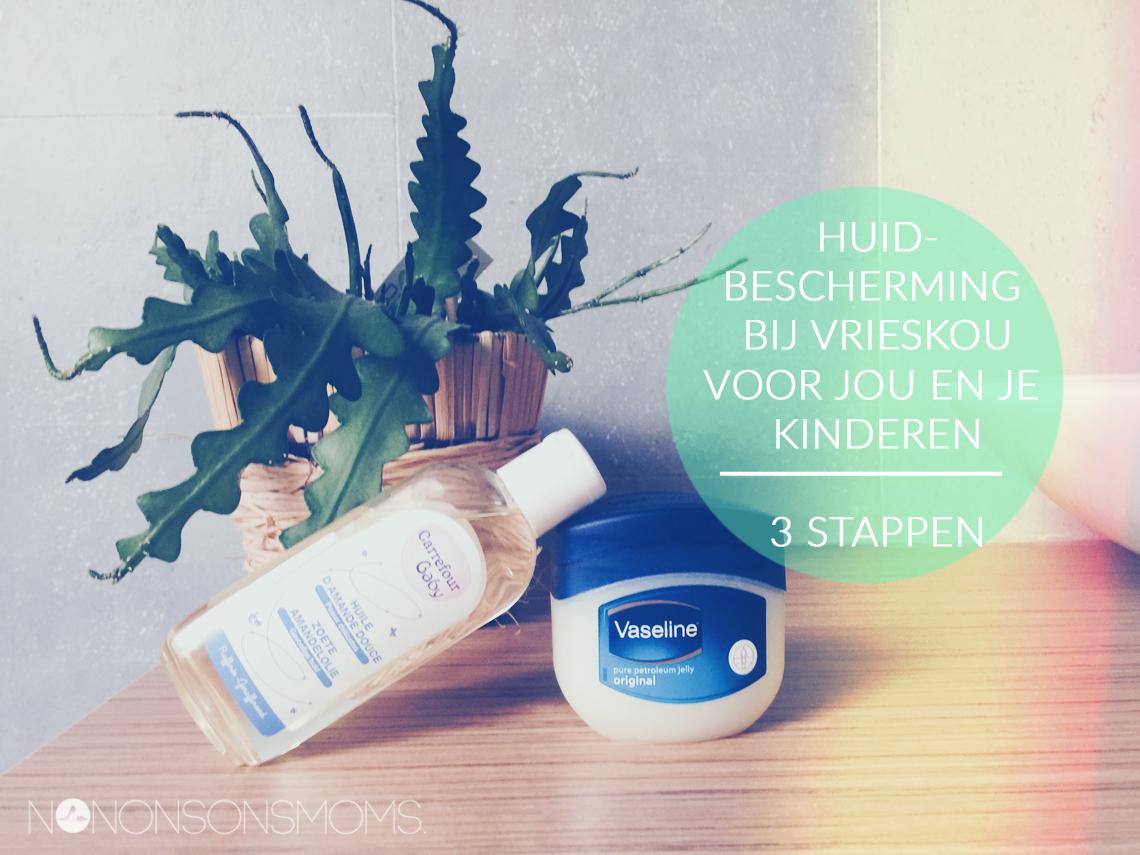 Bescherming van je huid en die van je kinderen tegen de vrieskou in 3 stappen