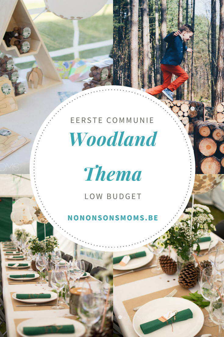 Eerste communie - woodland en beer thema - low budget