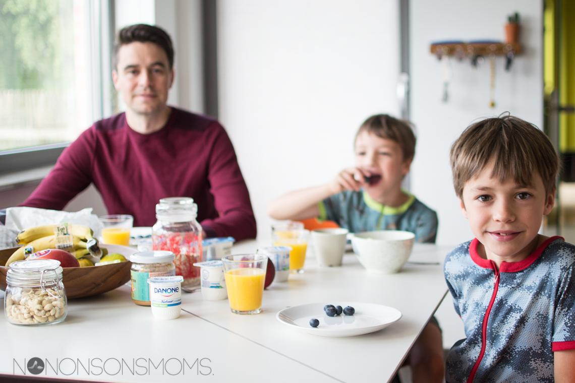 ontbijt - danone - familie - tijd voor gezondheid