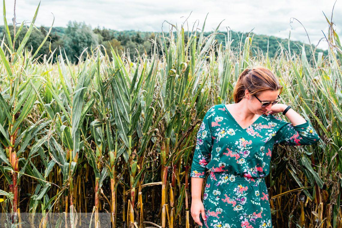 Lux jurk voor dames van BelEtoile in Megan Blue Fabrics