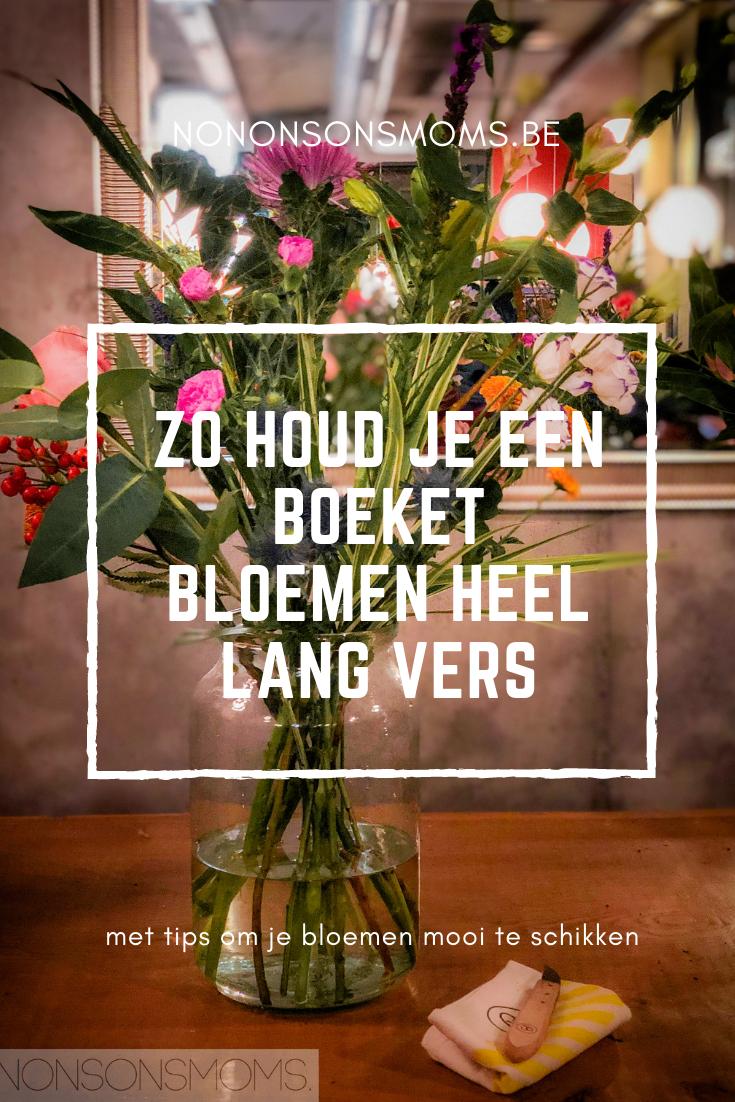 zo houd je een boeket bloemen heel lang vers - bloomon