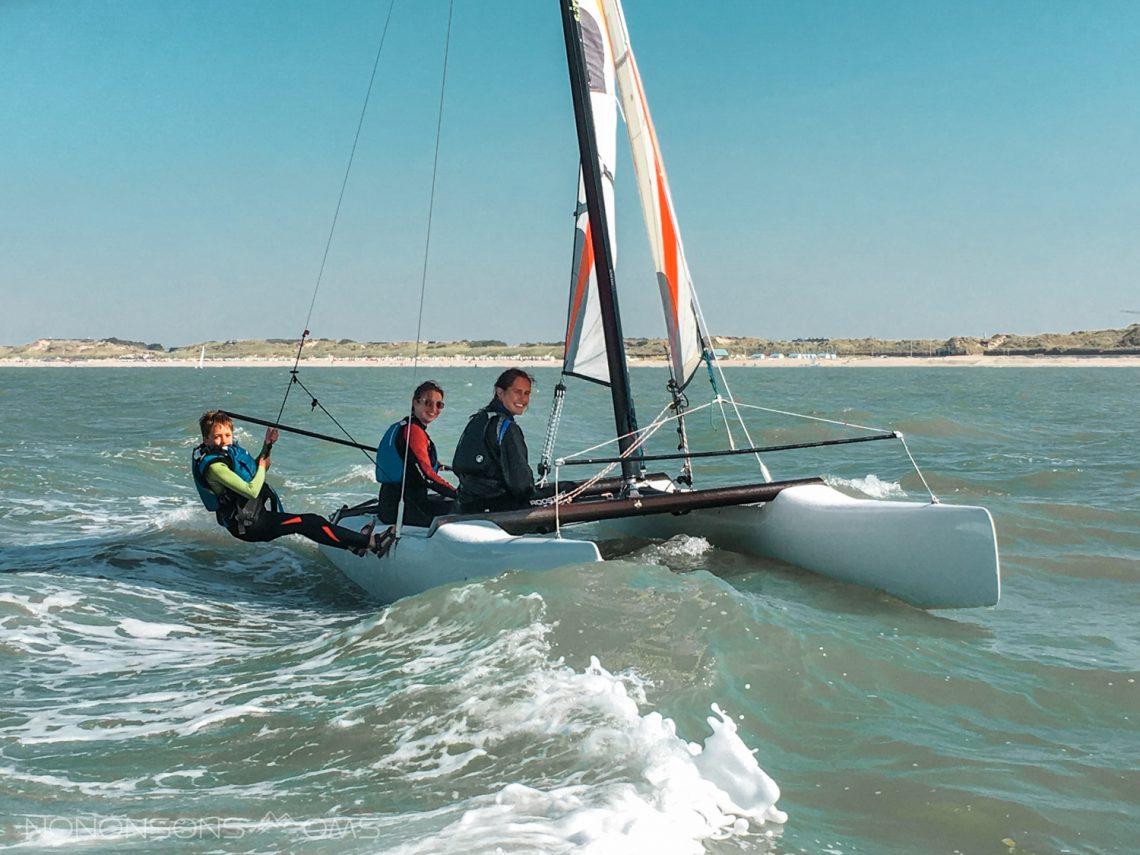 zeilen met kinderen, catamaran, watersport - vitamine zee