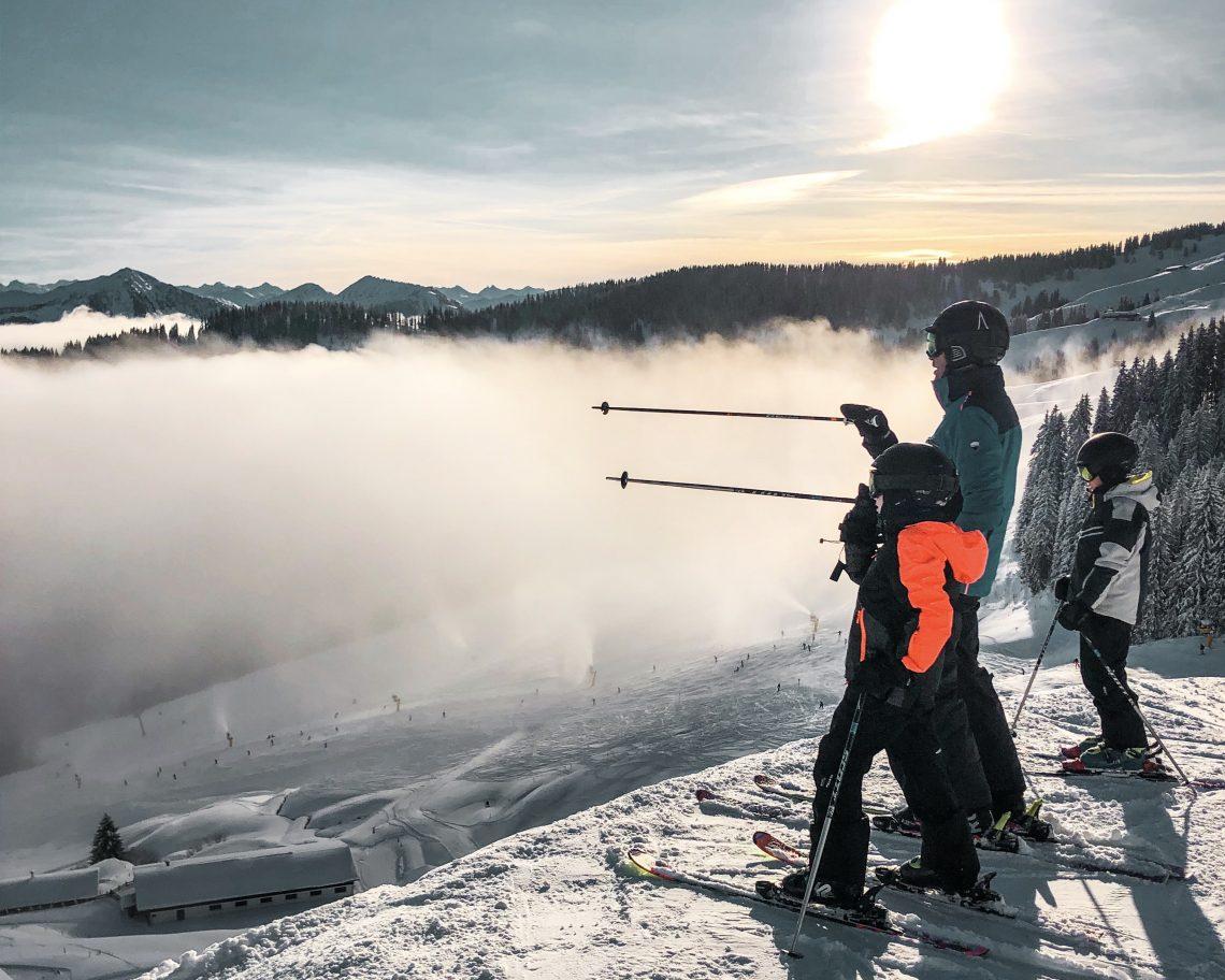 skivakantie shortski met kinderen, skiwelt Oostenrijk