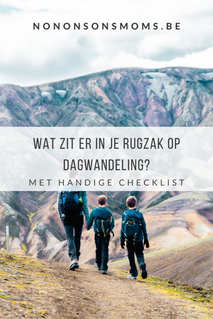 Wat zit er in je rugzak op dagwandeling in de bergen? Met gratis checklist download